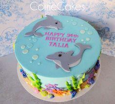Dolphin Cake, Corrie Cakes Dolphin Birthday Cakes, Dolphin Birthday Parties, Dolphin Cakes, Fondant Cakes, Cupcake Cakes, Cupcakes, Hawaii Cake, Ocean Cakes, Mom Cake
