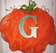 Your Custom Initial On Any Sparkle Plenty Wreath. $10.00, via Etsy.