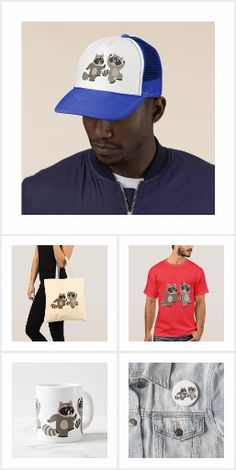Cute Dancing Cartoon Raccoons Merchandise, T-Shirts and gifts by Cheerful Madness!! at Zazzle #raccoon #raccoons #kawaii #cheerfulmadness #gifts #merchandise #zazzle #collection #animation #comics #dance #cute #geek #nerd #tshirts #apparel #customizable