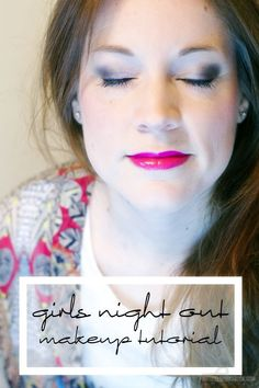 Looking for a fun new makeup look for Girls Night Out? Look no further! This look pairs dark navys w/ pops of pink! Check out my GNO Makeup Tutorial
