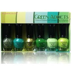 KLEANCOLOR Nail Lacquer Mini Collection - Green Addicts - Vision of Greens