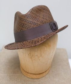 Panama Straw Fedora Hat/Mens/hand blocked by humperdinckhats