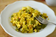 vegan scrambled eggs:  might make these every once in a while since I'm staying away from soy.. once in a while this sounds good though!