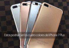 Estos podrían ser los cuatro colores del iPhone 7 Plus
