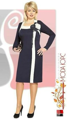 dress inspiration - choose your fabric and have it tailor made to your measurements by Blouse Dress, Dress Skirt, Dress Up, Plus Size Kleidung, Evening Dresses, Formal Dresses, Mode Chic, Big Girl Fashion, Well Dressed