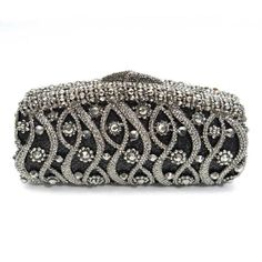 white and black fashion crystal clutch bag, luxury evening clutch , stunning~~