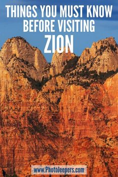 If you're planning a visit to Zion, then read our extensive Zion National Park guide filled with tips to help you plan the perfect Zion National Park vacation: What to pack for a trip to Zion | Where to stay near Zion | How to get to Zion | Things to do at Zion National Park #nationalparks #zion #zionnationalpark #utah #photojeepers National Parks Usa, Zion National Park, Travel Usa, Travel Tips, Travel Hacks, Travel Destinations, Salt Lake City Utah, Road Trip Usa, Best Places To Travel