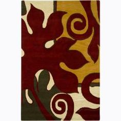 @Overstock - High-quality construction highlights this area rug, hand-tufted in India using premium New Zealand wool. This rug features an abstract design in shades of dark red, yellow, green and light gold.http://www.overstock.com/Home-Garden/Hand-tufted-Abstract-New-Zealand-Wool-Rug-79-x-106/6412091/product.html?CID=214117 $578.99