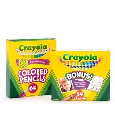 Look at this #zulilyfind! Colored Pencil & Crayon Set #zulilyfinds