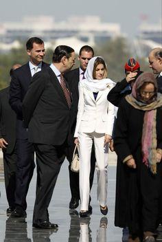 Princess Letizia - Spanish Royals visit Abu Dhabi