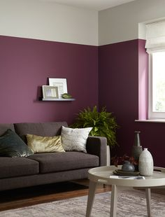 Bold on trend shades designed to complement Crown Paints Standard Emulsion. Shown here in Addiction by Crown Paints.