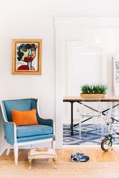 Una vivienda familiar con toques de color - Blog decoración y Proyectos Decoración Online