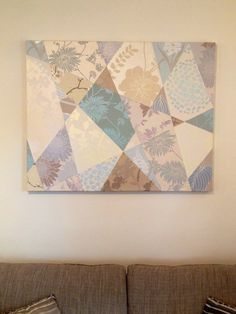 Large collage canvas made with wallpaper samples