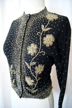 Mejor siempre de 1950 mano cuentas diseño Floral por wearitagain