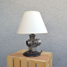 SALE Desk Accessories - Motorcycle Lamp Yamaha Carburetor - Office or Man's Cave - Industrial lighting - Father's Day - READY to SHIP