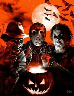 Freddy, Jason and Micheal halloween horror halloween pictures halloween images halloween ideas jason voorhees freddy kruger micheal myers
