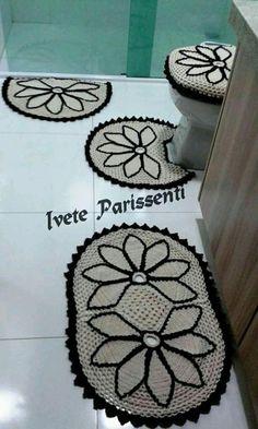 Crochet For Home - Bathroom Crochet Mat, Crochet Carpet, Crochet Owls, Tunisian Crochet, Crochet Home, Crochet Doilies, Crochet Bedspread Pattern, Granny Square Crochet Pattern, Crochet Stitches Patterns