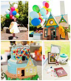 Disney's Up themed birthday party via Kara's Party Ideas KarasPartyIdeas.com Cake, decor, printables, invitation, desserts, and more! #disneysup #upparty (2)