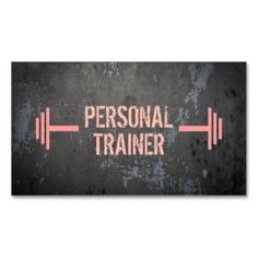 Shop Professional Grunge Personal Trainer Business Card created by istanbuldesign. Personal Trainer Quotes, Personal Training Logo, Personal Fitness, Fitness Design, Fitness Logo, Fitness Gear, Fitness Quotes, Fitness Diet, Health Fitness
