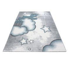 Innen-/Außenteppich Gracelynn in Grau Roomie Kidz Teppichgröße: Rechteck 160 x 230 cm Indoor Outdoor Rugs, Rug Size, Playroom, Blue Grey, Kids Rugs, Stitch, Stars, Cute, Crafts