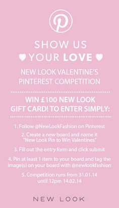 New Look Pin to Win this Valentines.