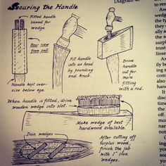 Lose the metal wedges and you're there. I also never hammer on the knob. Antique Tools, Old Tools, Vintage Tools, Survival Tips, Survival Skills, Survival Stuff, Bushcraft Kit, Axe Handle, Instagram Shop