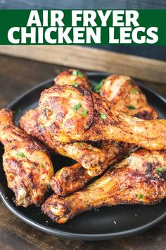Making juicy chicken legs has never been easier than with the air fryer! These Air Fryer Chicken Legs are done in less than 30 minutes and perfectly crispy and juicy! Good Food, Yummy Food, Chicken Legs, Air Fryer Recipes, Tandoori Chicken, Chicken Recipes, Favorite Recipes, Dinner, Eat