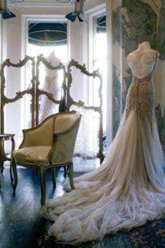 J'Aton wedding gown train