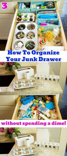 Get organized at home! Junk drawer organization hacks and easy junk drawer organizing ideas #junkdrawerorganizing #drawerorganizingideas #organizingdrawers #junkdrawer #drawerdividers #diyorganization #organizationhacks #gettingorganized #organizationideasforthehome #getorganized