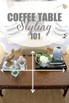 Elegant How To Style A Coffee Table
