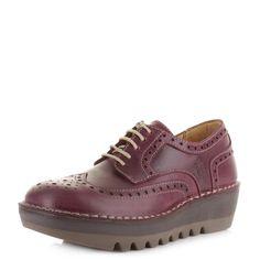 Resultado de imagem para Fly London Women's Jane Brogue Lace Up Shoes