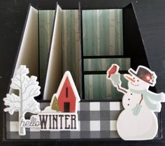 Simple Stories Winter Farm House.  Design by Debra Lord for Scrappin' in the City. Simple Stories, Farm House, Bookends, Lord, House Design, Holiday Decor, City, Winter, Home Decor