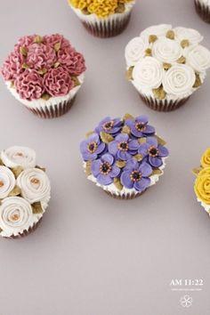 작은꽃케이크, 플라워컵케이크_AM1122 CAKE : 네이버 블로그