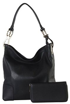 Rimen  Co Soft PU Leather Hobo with Matching Wallet 2 Pieces Set Womens Purse Handbag HS3637 >>> For more information, visit image link.Note:It is affiliate link to Amazon. #ilikeback