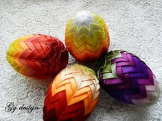 Easter egg, Easter decoration, quilted ornaments, ornament egg, artichoke egg, quilt,  Easter decorations, happy Easter eggs, decorated egg