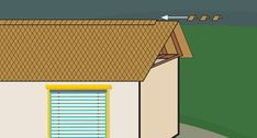 How to Cut Roof Rafters. If you're framing a gable roof on a new house, or building a shed or even a doghouse with a gable roof, you'll need to cut a number of roof rafters. The roof rafters provide integral structural support to the roof. Hip Roof Design, Gable Roof Design, Gazebo Roof, Pergola, Gazebo Plans, Building A Shed Roof, Wood Truss, Framing Construction, Corrugated Roofing
