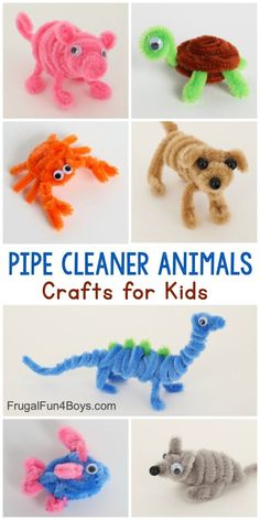 Adorable Pipe Cleaner Animals Craft for Kids - Frugal Fun For Boys and Girls