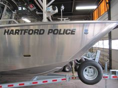 Hartford Police Boat Graphic Wrap Done By Sign Pro Inc.