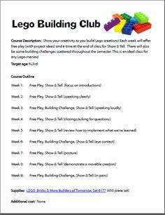 Lego Building Club