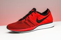 f4e471683c920 Nike Flyknit Trainer+ University Red White
