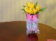 DIY Easter Candy Floral Arrangement - Do More for Less