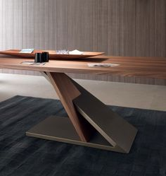 Rectangular wooden #table ZED - @itDreamDesign