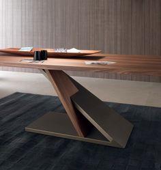 Rectangular wooden #table ZED - @itDreamDesign