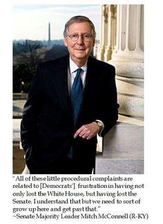 Senator Mitch McConnell rebukes Senate Democrats to grow up