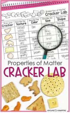 Properties of matter cracker lab activity for students learning to observe and describe matter. This teaching idea is deal for grade science and NGSS Structure and Properties of Matter standards and a fun science experiment that second grade kids can eat! Cool Science Experiments, Kindergarten Science, Elementary Science, Science Classroom, Teaching Science, Science For Kids, Science Education, Science Labs, Summer Science