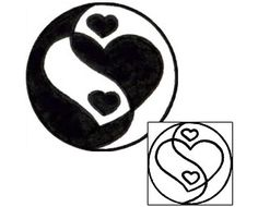 Show details for Yin Yang Tattoo Miscellaneous tattoo | VVF-02669