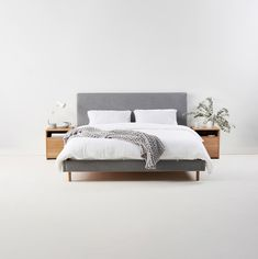 Archie Upholstered Bed by Mubu