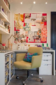 Gorgeous office in converted garage | from Apartment Therapy | Rosa Beltran