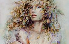Image issue du site Web http://vsemart.com/wp-content/uploads/2014/11/Female-floral-portrait-by-Chinese-painter-Wendy-Ng-11.png