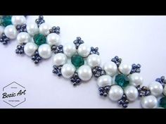 """Jewelry Making Tutorials """"Margaret"""" Bracelet ~ Easy Elegance - also works as necklace ~ Seed Bead Tutorials - Tutorial Colar, Necklace Tutorial, Diy Necklace, Beads Tutorial, Necklace Chain, Easy Beading Patterns, Jewelry Patterns, Seed Bead Tutorials, Beading Tutorials"""